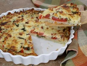 Tomato Hash Brown Quiche Recipe
