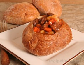 Easy Beef Stew in Bread Bowl