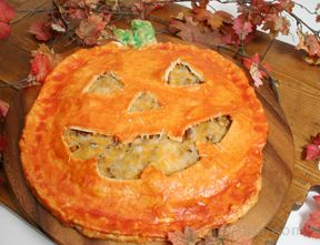 Jack-O-Lantern Pot Pie Recipe
