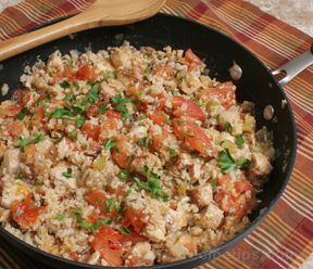 Spicy Turkey Paella