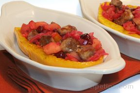 Acorn Squash filled with Pork and Cranberries