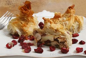 Turkey Craisin Phyllo Bundle Recipe
