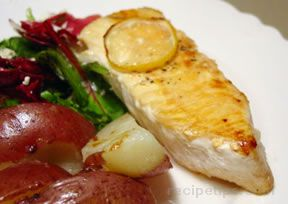 fish baked in lemon butter Recipe