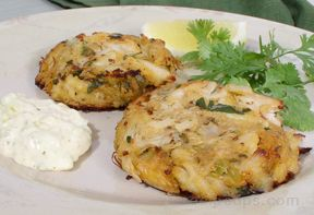 Crab Cakes with Lime and Cilantro Recipe