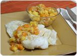 Grilled Cod with Mango Orange Chutney Recipe
