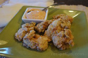 Fried Oysters with Dipping Sauce