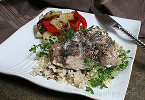 Grilled Herb Tuna Steaks