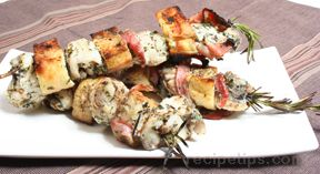 Grilled Monkfish Kebabs