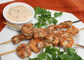 Grilled Shrimp with R#233moulade Sauce