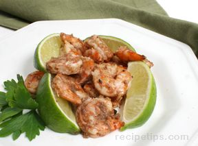 Jerk Shrimp with Lime