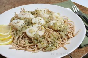 Lemon Garlic Scallops and Pasta