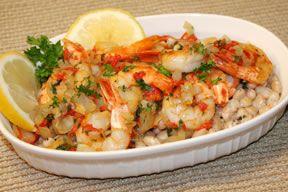 Quick Shrimp with Beans Recipe