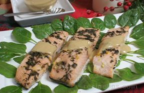 Salmon with Maple Thyme Glaze