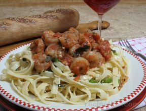Sauteed Shrimp in Tomato Sauce