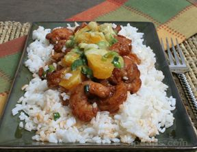 Spicy Shrimp with Orange Avocado Salsa