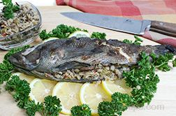 Stuffed Black Sea Bass