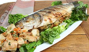 vegetable bread stuffed bronzini Recipe