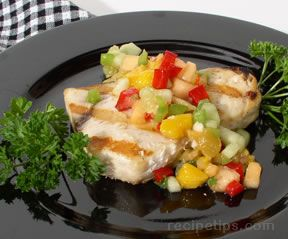 Grilled Swordfish with Melon Salsa Recipe