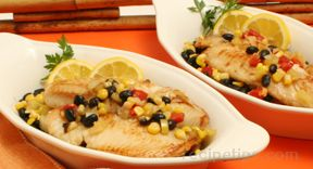 Tilapia with Black Beans and Corn Recipe