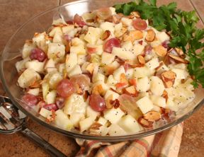 Apple Pineapple and Grape Salad