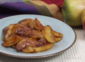 caramelized fried apples Recipe