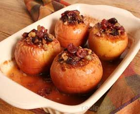 Baked Apples Stuffed with Nuts and CranberriesnbspRecipe