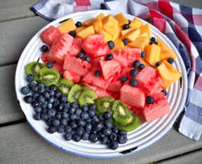 fresh fruit plate Recipe