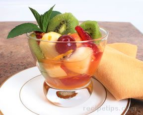 Marinated Fruit with Fresh Herbs