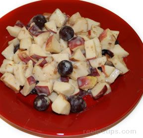 Fruit with Creamy Yogurt Dressing Recipe