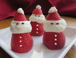 Strawberry  Cream Santas Recipe