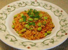 Edamame Pilaf  Rice with Soybeans