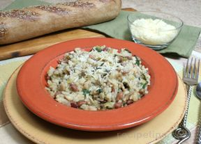 risotto with beans and spinach Recipe
