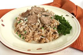 Risotto with Shaved Truffles and Peas