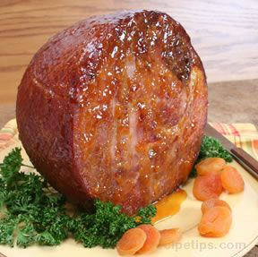 baked ham with apricot brandy glaze Recipe