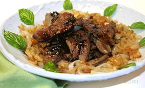 balsamic glazed lamb liver Recipe