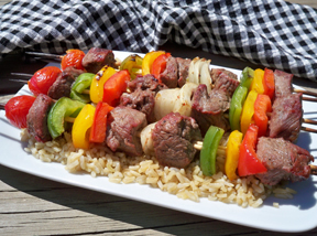 Beef  Vegetable Kabobs