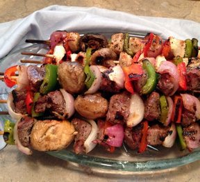 Beef and Vegetable Skewers Recipe