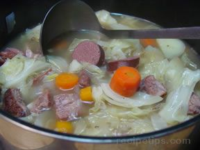 boiled dinner with three meats Recipe