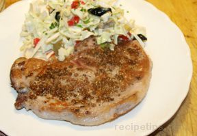 coriander crusted pork chops Recipe