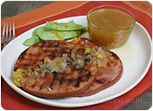 Grilled Ham with Orange Honey Sauce Recipe