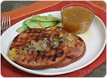 Grilled Ham with Orange Honey Sauce Recipe