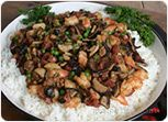 Sausage, Vegetables and Sweet Rice Recipe