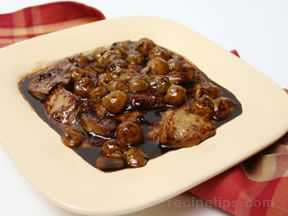 Foie Gras in Grape Sauce Recipe