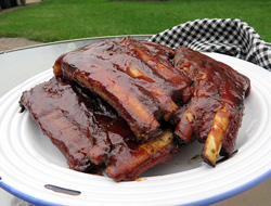Grilled Barbecued Spare Ribs