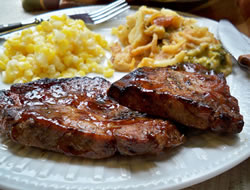 Grilled Marinated Pork Steaks