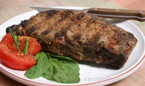 grilled ribeye with chile powder rub Recipe