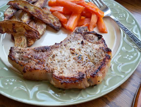 Grilled Seasoned Pork Chops Recipe