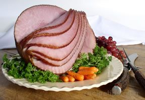 Baked Ham with Apple Mustard Glaze