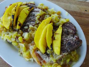 Mango Pork Chops Recipe
