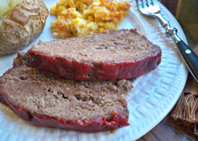 Grandmas Meat Loaf with Brown Sugar Topping
